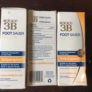 3 Neat Feat 3B Foot Saver Roll-On Antiperspirant